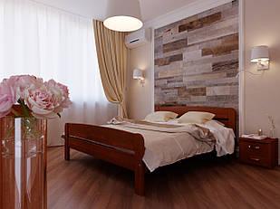 Ліжко двоспальне з натурального дерева в спальню Октавія 2 (бук) 160*200 Неомеблі