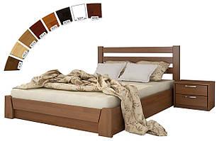 Ліжко в спальню з натуральної деревини буку з підйомним механізмом Селена Естелла
