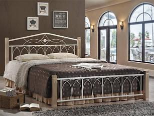 Ліжко коване в спальню Міранда М двоспальне (крем) Domini