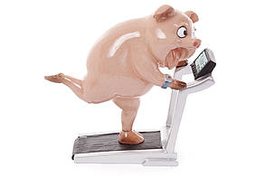 Декоративная статуэтка Свинка на беговой дорожке, 18см BonaDi 238-701