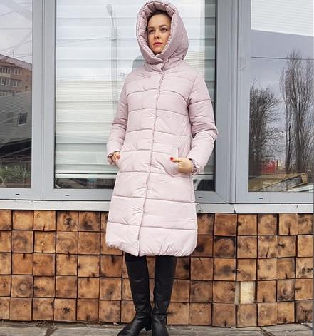 c7056b34c1d Женская зимняя удлиненная куртка с капюшоном