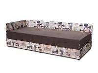 Ліжко двоспальне з мякою спинкою спальню Болеро меблева тканина (80х200) Віка