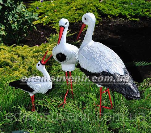 Садовая фигура Семья садовых аистов №9, фото 2