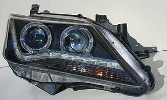 Передние фары Toyota Camry 50 тюнинг Led оптика (линза под ксенон) V2