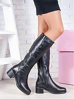 Модные кожаные сапоги, фото 1