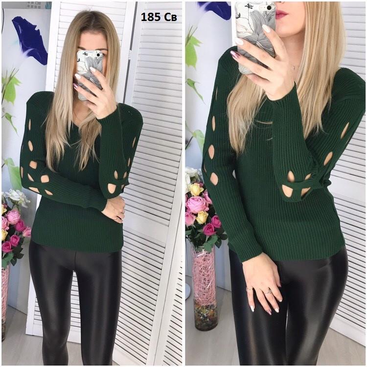 Вязаный женский свитер 185 Св