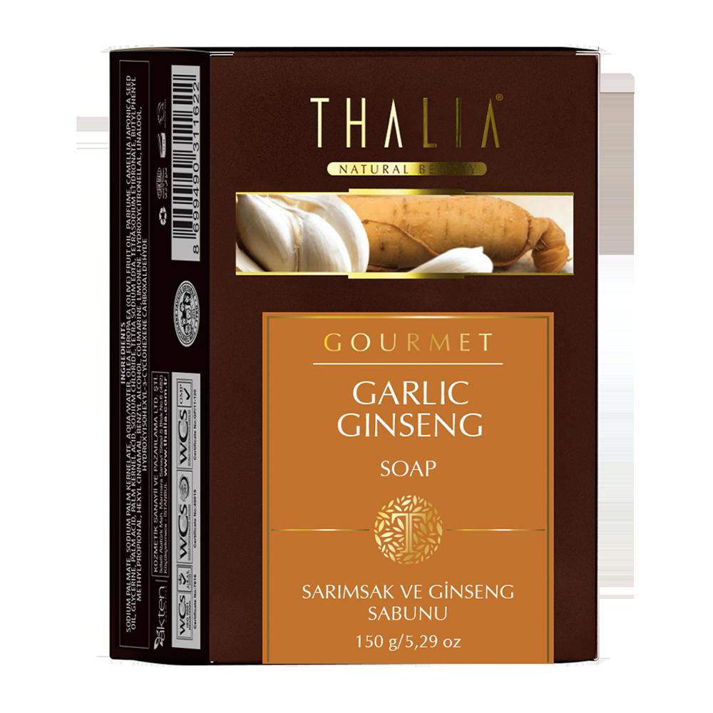 Натуральное мыло с чесноком и женьшенем THALIA, 150 г