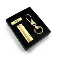 Подарочный набор под золото Honest, зажигалка с брелоком(14х12х3)