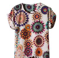 """Хит продаж! Женская шифоновая блузка, футболка с рукавами """"летучая мышь"""", свободного покроя"""