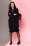 """Платье """"L-125"""" (черный)(размеры 44-54)"""