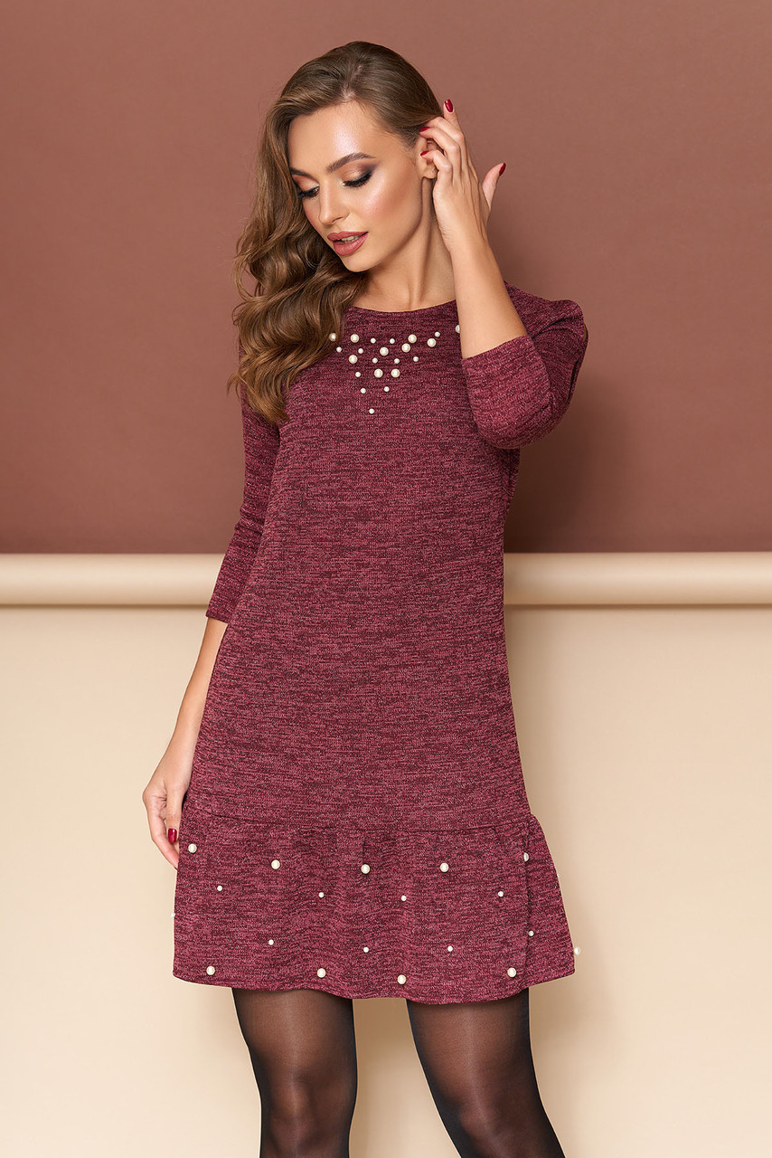 "Платье ""Джамба"" (бордо)(размер S,M,L,XL)"