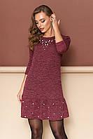 "Платье ""Джамба"" (бордо)(размер S,M,L,XL), фото 1"