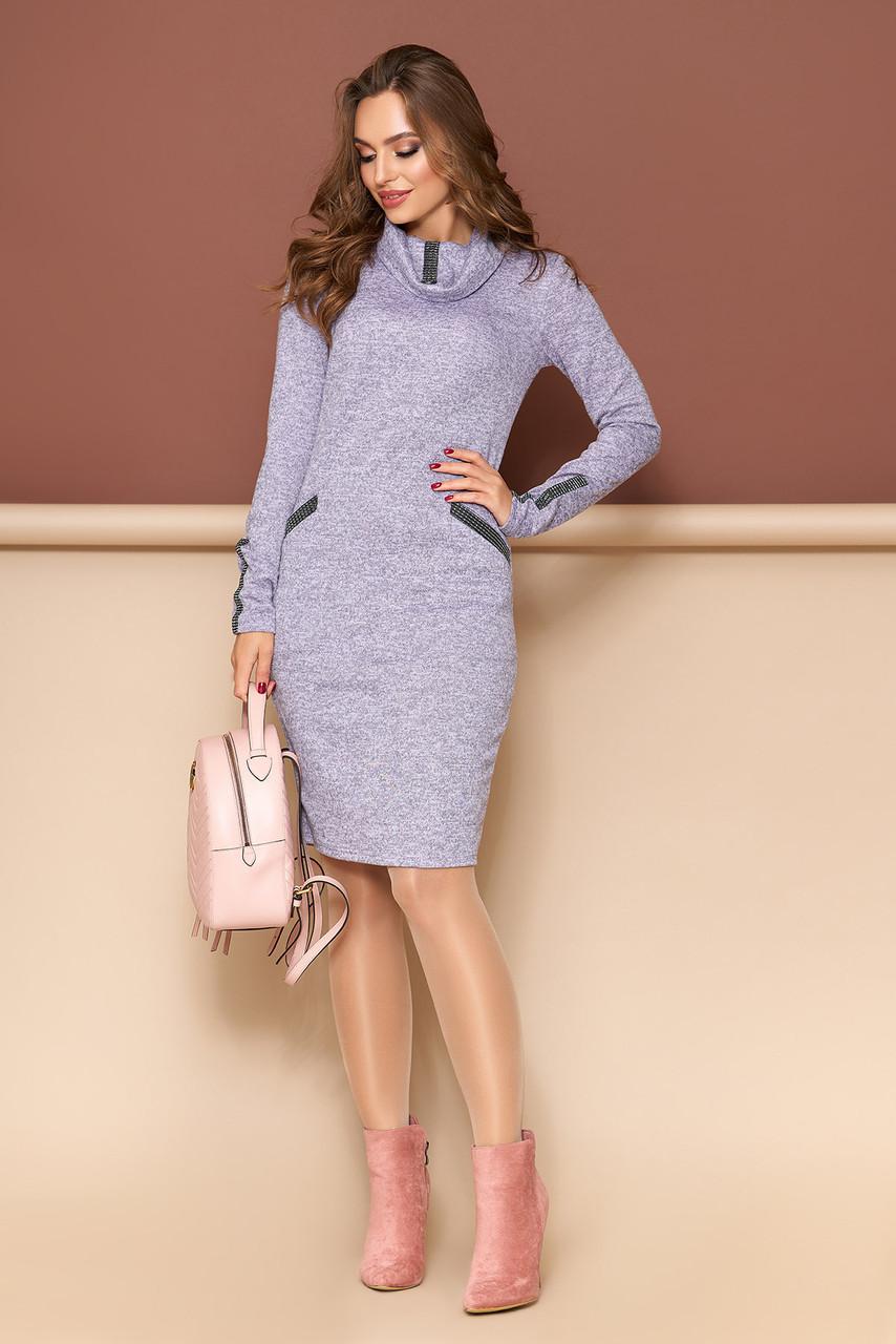 "Платье ""Леди"" (сирень)(размер S,M,L,XL)"