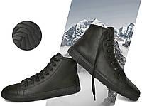 Кеды демисезонные мужские утепленные Power Design 1003 размер 43 кожаные Чёрные, фото 1