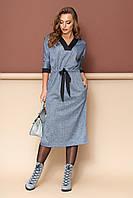 """Платье """"Спейс"""" (т/синий)(размер S, 2XL), фото 1"""