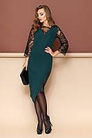 """Платье """"L-137"""" (зеленый)(размеры 44-54)"""