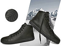 Кеды демисезонные мужские утепленные Power Design 1003 размер 42 кожаные Чёрные, фото 1