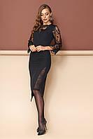 """Платье """"L-137"""" (черный)(размеры 44-54)"""