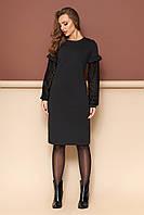 """Платье """"L-133"""" (черный)(размеры 44-54)"""