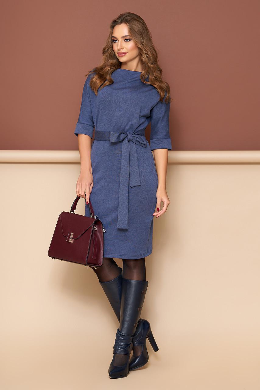 """Платье """"L-139"""" (джинс)(размеры 44-54)"""