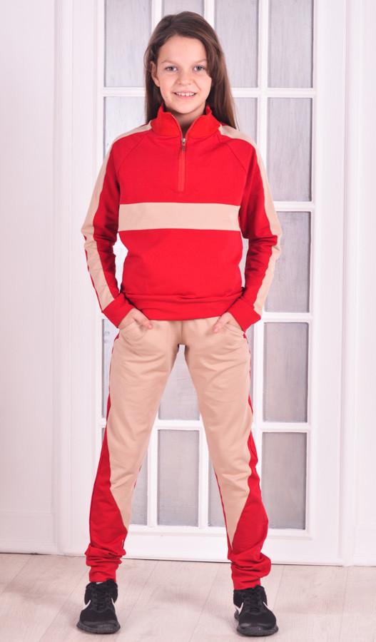 Спортивный костюм для девочки  красный Stylish fashion от 9 до 12 лет (134;140;146;152)