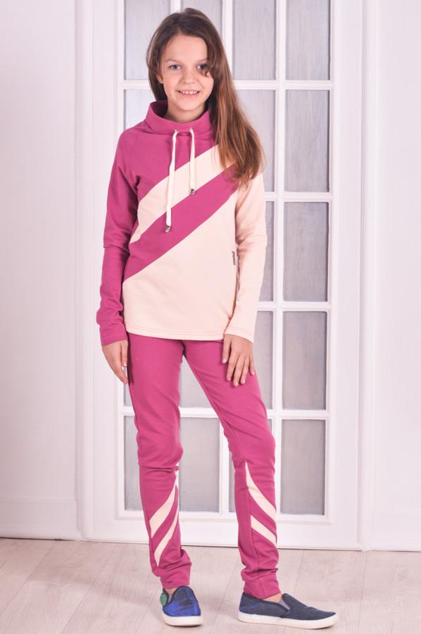 Спортивный костюм для девочки розовый Stylish fashion от 9 до 12 лет (134;140;146)