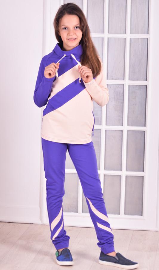 Спортивный костюм для девочки фиолетовый Stylish fashion от 9-12 лет(134;140;152)