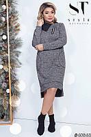 Теплое и очень модное платье с 48 по 58 размер, фото 1