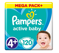 Подгузники Pampers Active Baby Maxi Plus 4+ (9-16 кг) Mega Box, 120 шт.
