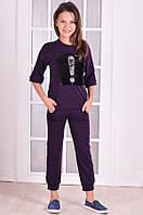 Спортивный костюм для девочки  прогулочный с нашивкой   от 6 до 10 лет (116;122;128;134;140) 140