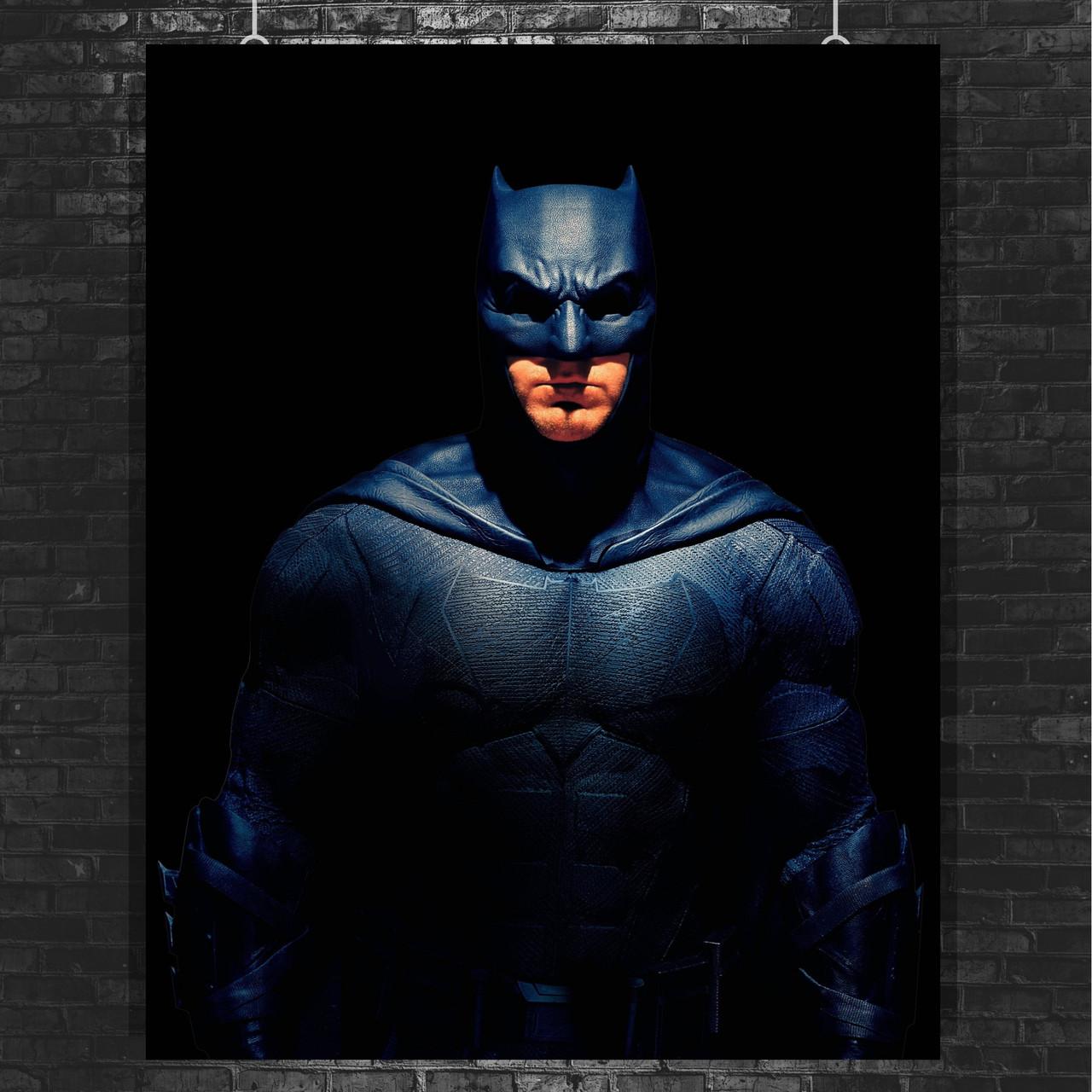 Постер Бэтмен, Batman. Лига Справедливости, Justice League. Размер 60x47см (A2). Глянцевая бумага