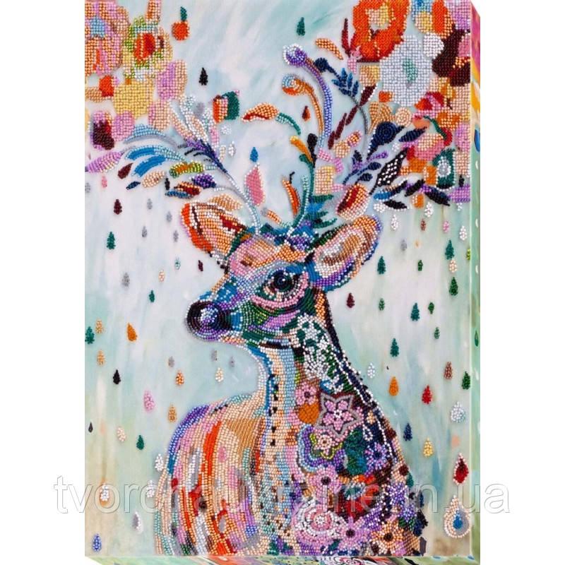 Набор для вышивки бисером на холсте «Благородный олень»