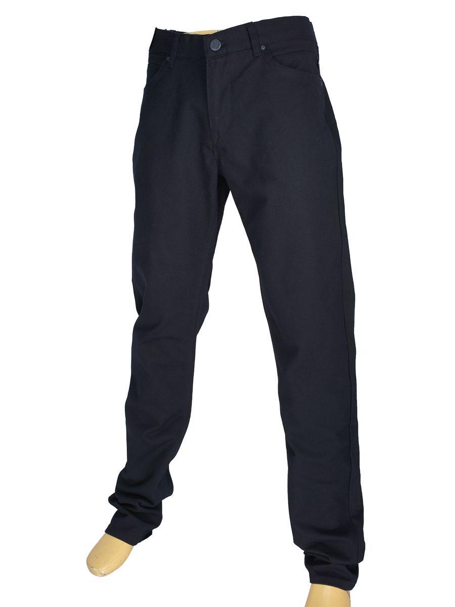 Однотонні чоловічі джинси X-Foot 140-7084 C-Laci темно-синього кольору