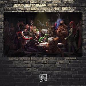 """Постер Картина """"Суперзлодії DC пишуть листа Бетмену"""" (60x102см)"""
