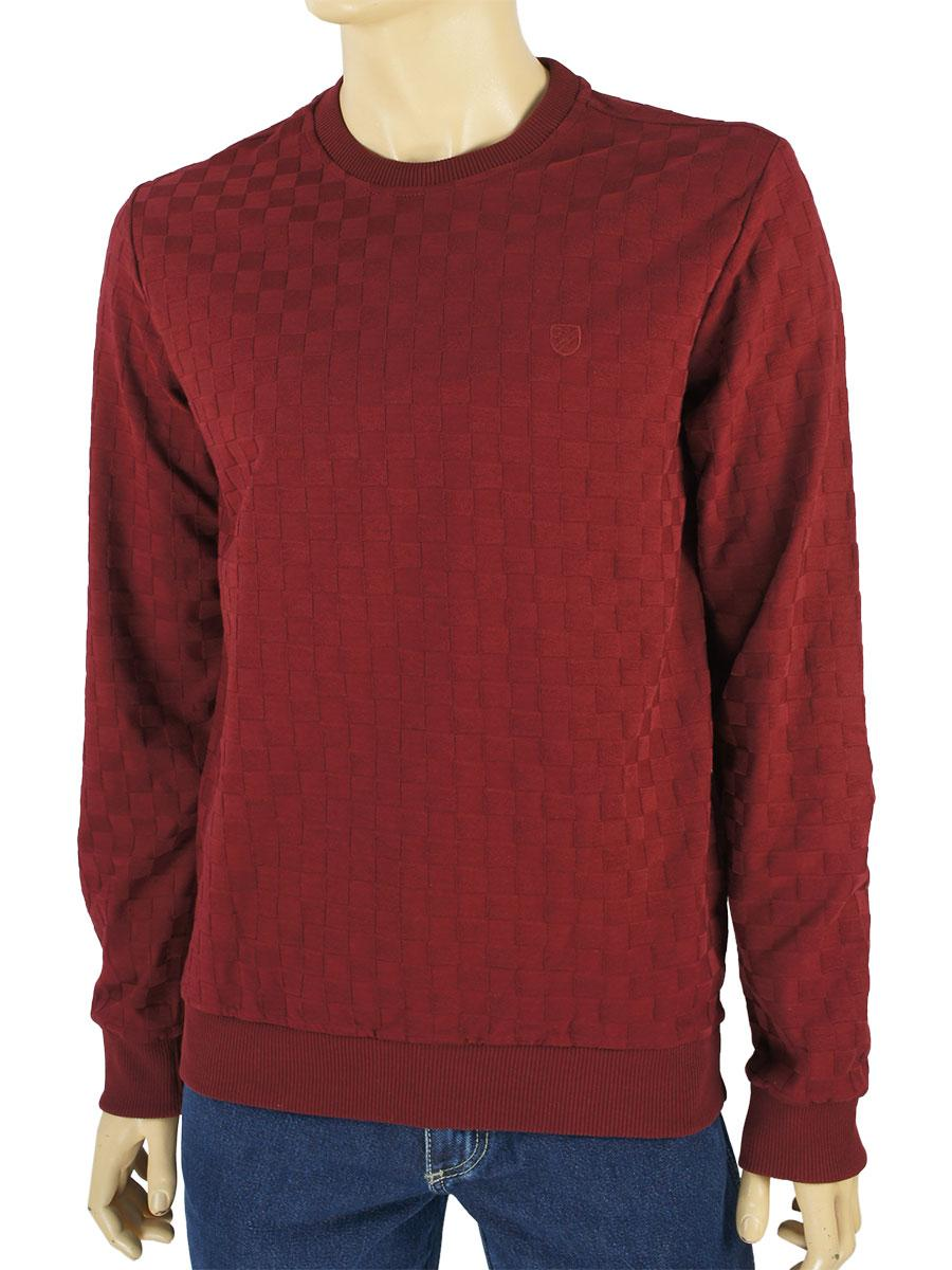 Однотонний светр для чоловіків Fabiani 22856 Bordo