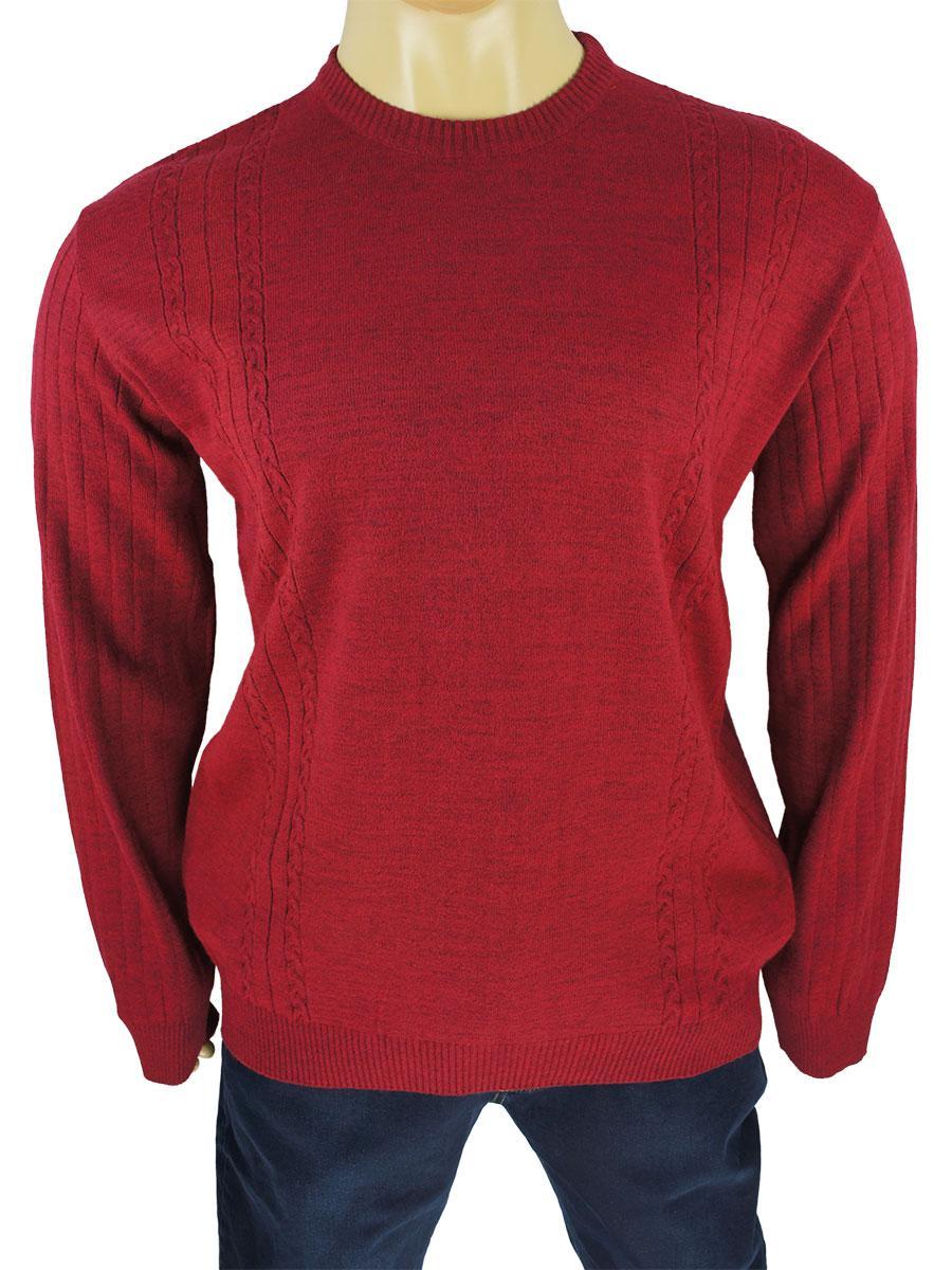 Бордовий чоловічий светр Dekons 1385 Bordo дуже великого розміру