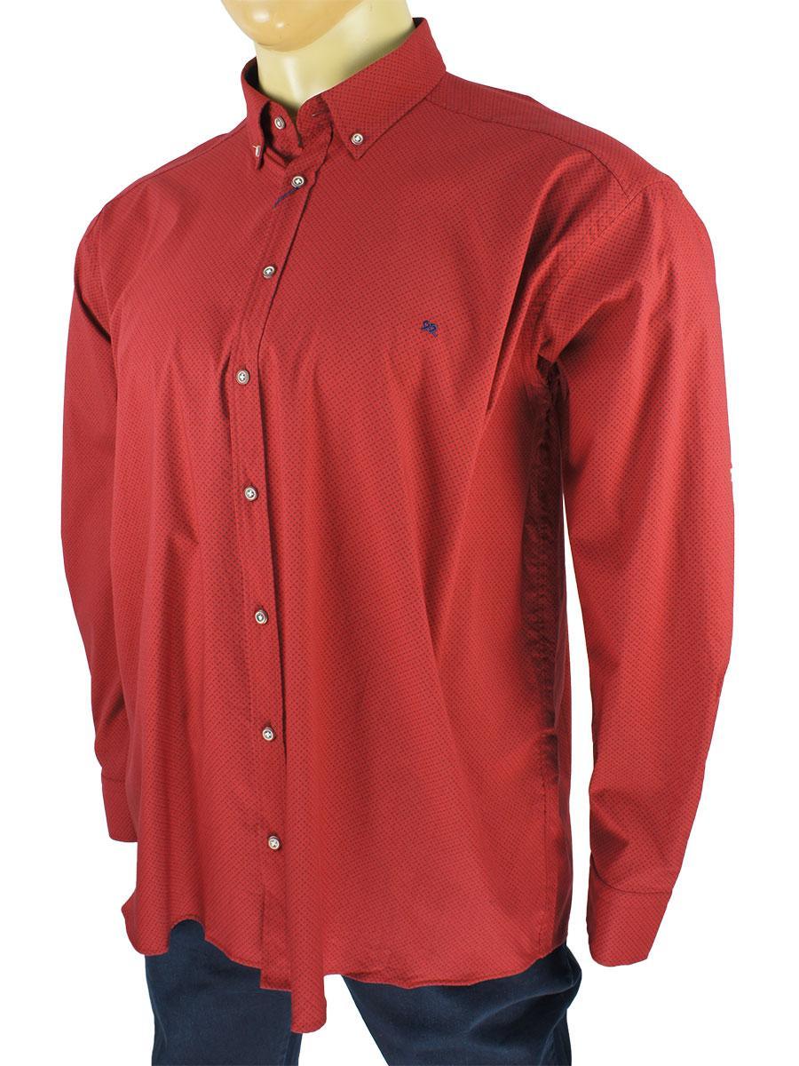Чоловіча турецька сорочка Barcotti 0285 SBT у великому розмірі