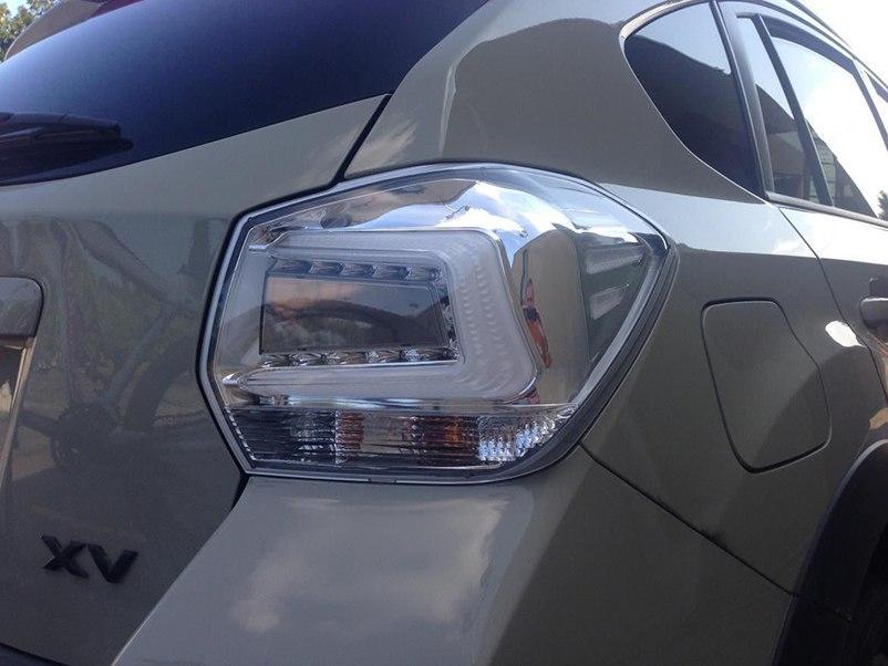 Диодные фонари LED тюнинг оптика Subaru XV хром