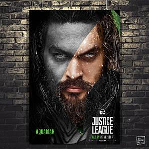 "Постер ""Лига Справедливости. Аквамен"". Aquaman. Размер 60x41см (A2). Глянцевая бумага"