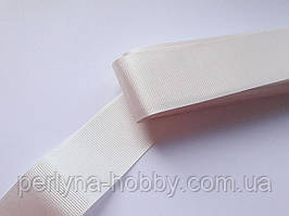 Тесьма лента репсовая широкая Стрічка репсова 40 мм, 4 см, кремова, ейворі. Туреччина