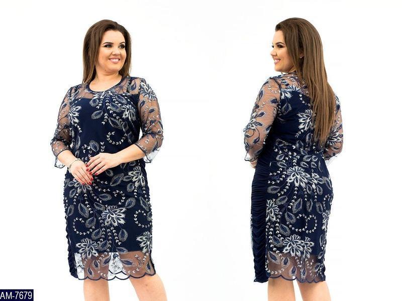 Нарядное женское платье большого размера 48-62