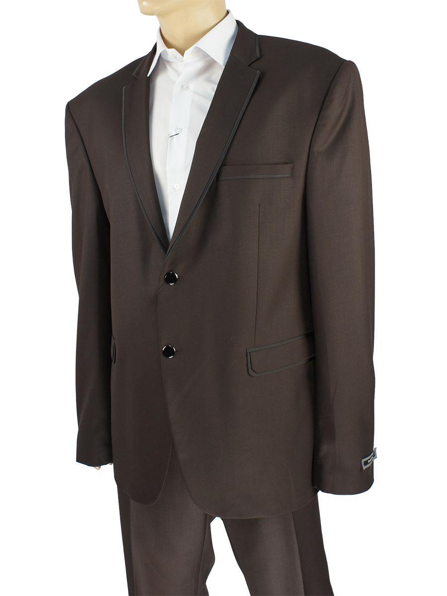 Коричневий класичний костюм для чоловіків Daniel Perry JL.612 C-Kahve великого розміру