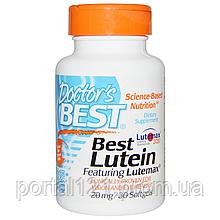 Лютеїн 20мг, Lutemax, Doctor's s Best, 30 желатинових капсул