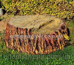 Набивная садовая фигура Пень крышка для люка, фото 3