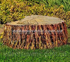 Набивная садовая фигура Пень крышка для люка, фото 2