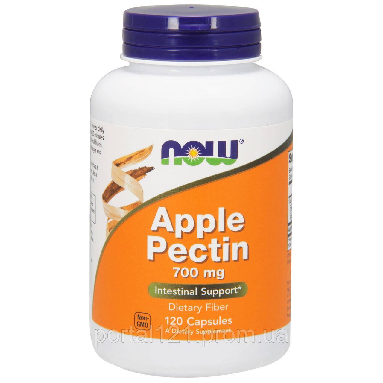 Яблочный Пектин 700мг, Now Foods, 120 капсул