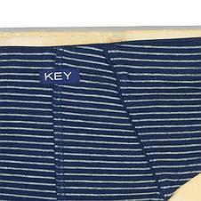 Чоловічі темно-сині плавки в смужку Key MPP 302 A8, фото 2