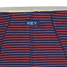 Чоловічі темно-сині плавки в смужку Key MPP 302 A8, фото 3