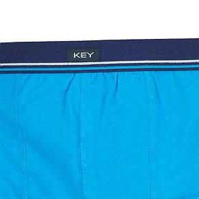 Оригінальні чоловічі боксерки Key MXH 778 A8 TU в бірюзовому кольорі, фото 2