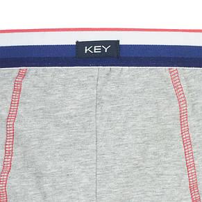 Однотонні чоловічі боксерки Key MXH 250 A8 SZ в сірому кольорі, фото 2